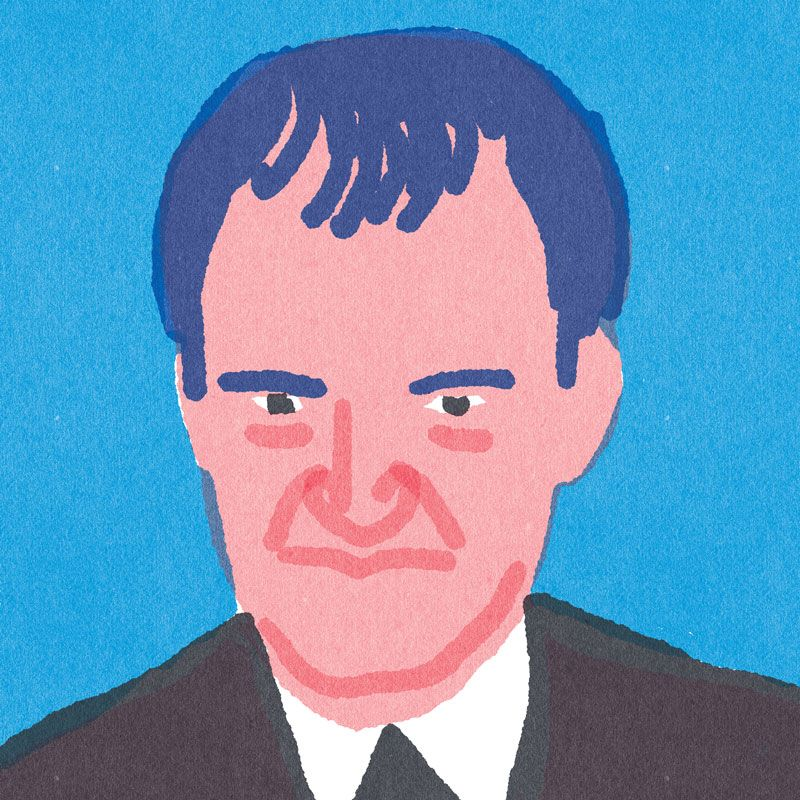 """Quick Portraits"" Quentin Tarantino, By Lorenzo Gritti."