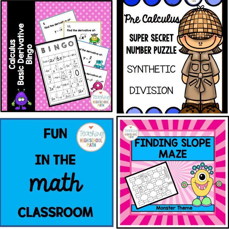 Check out Teaching High School Math for fun High School Math Ideas ...