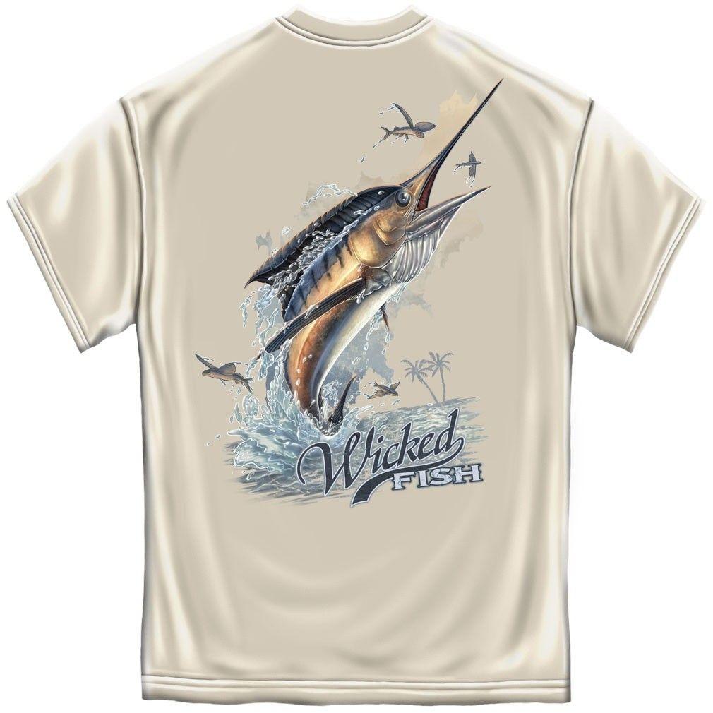 Blue Wicked Fish Striped Bass Fishing T-shirt by Erazor Bits