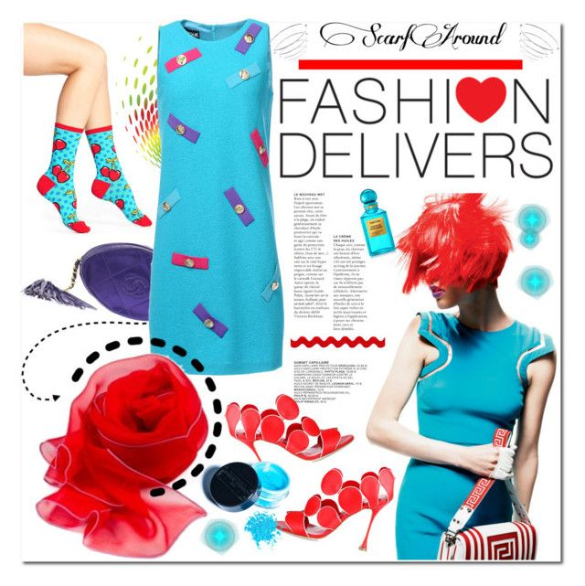 """""""ScarfAround: Fashion Delivers"""" by mashajazzliving ❤ liked on Polyvore"""