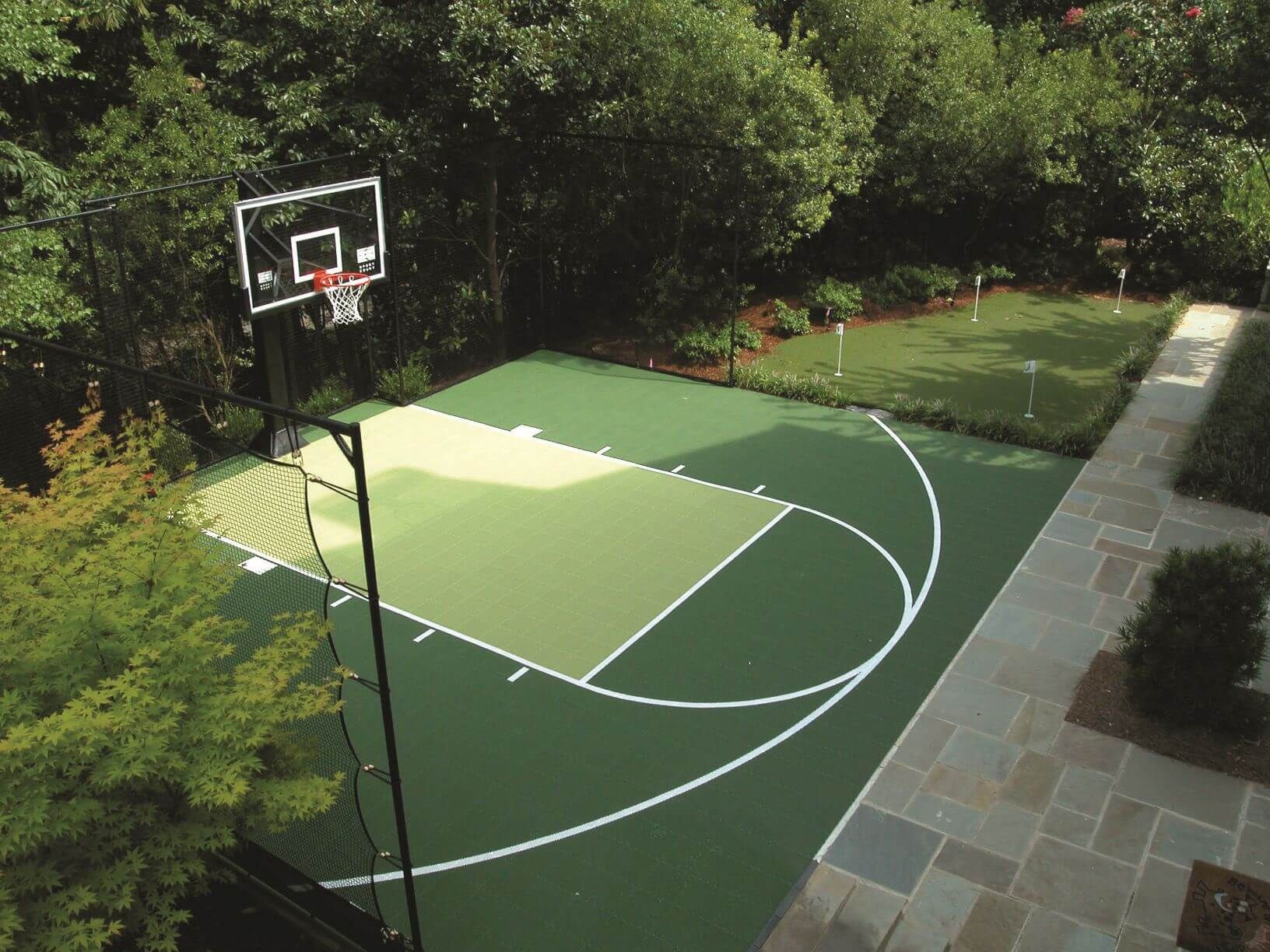 22 Genius Concepts Of How To Makeover Backyard Sport Court Ideas Basketball Court Backyard Backyard Court Home Basketball Court