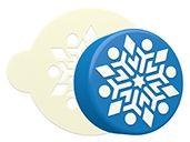 Snowflake 6 Sandwich Cookie Stencil