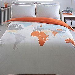 Ben de lisi home light grey world print map bedding set ben de lisi home light grey world print map bedding set gumiabroncs Images