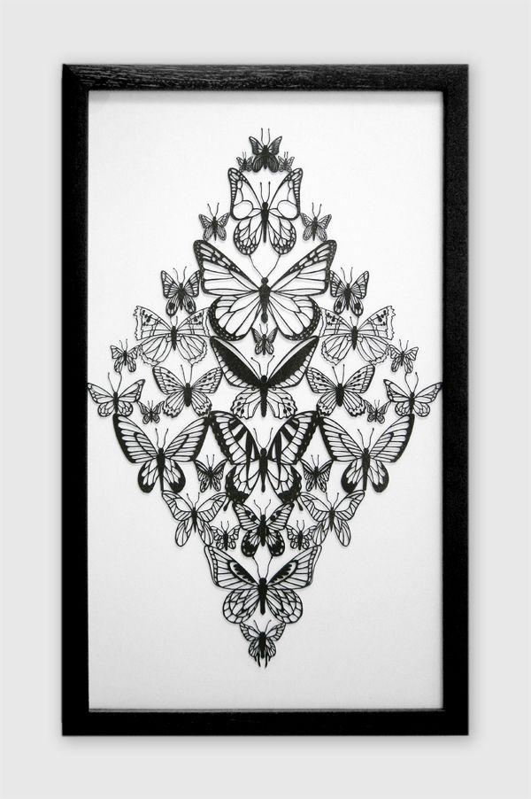 Butterflies by Michael Lomax, via Behance