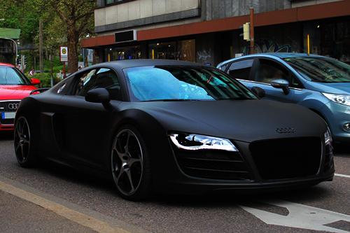 Matte Black Abt R8 Any Car In Matte Black Just Makes Me Cry It S So Beautiful Black Audi Matte Black Cars Matte Cars