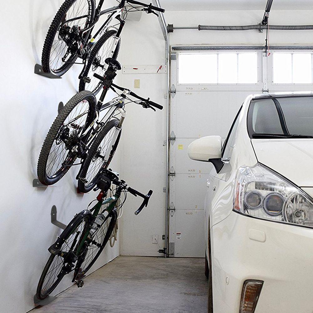 3pcs Set Bike Bicycle Rack Cycling Pedal Padlock Holder Tire Wall