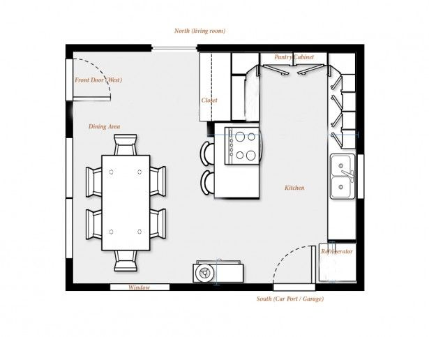 Modern Kitchen Layout Plan kitchen dining floor plans | design ideas 2017-2018 | pinterest