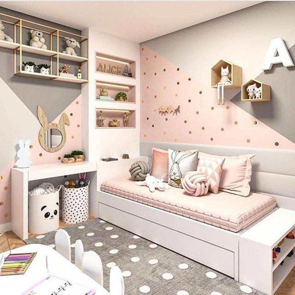 46 Lovely Girls Bedroom Ideas   Azhley   Room Decor, Baby Bedroom