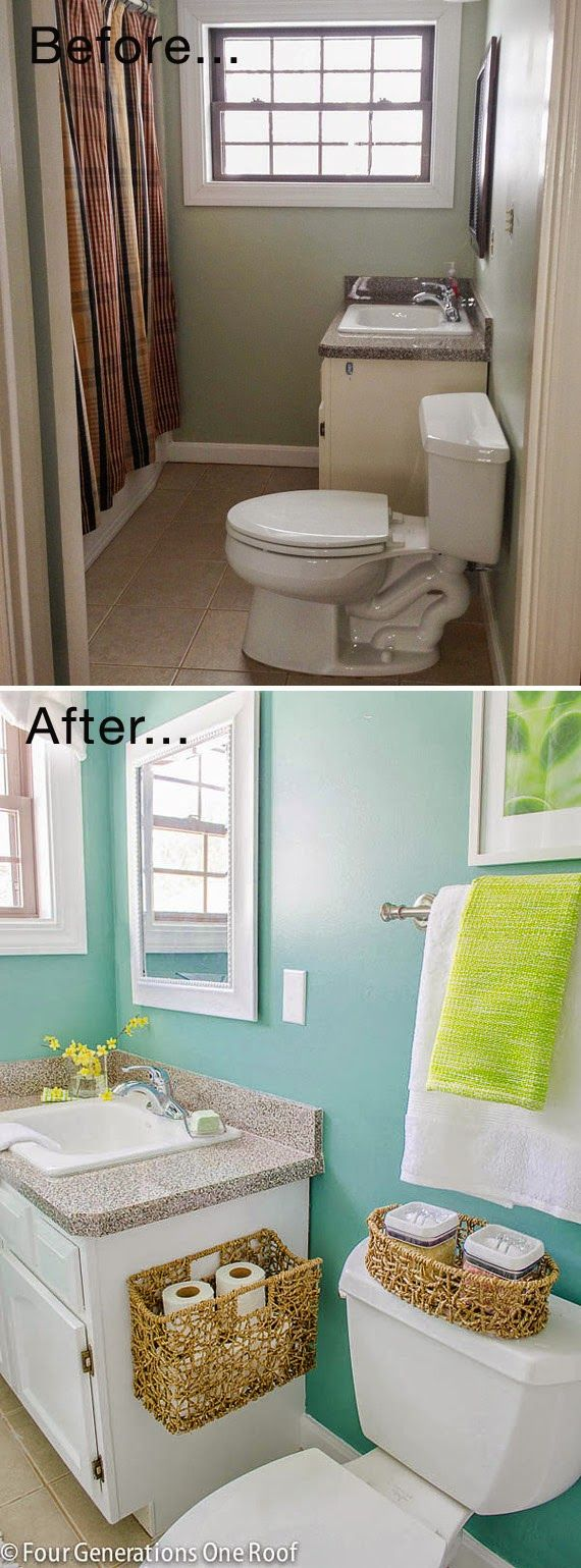 10 ideas diy para ba os peque os house bath and future for Banos para departamentos pequenos
