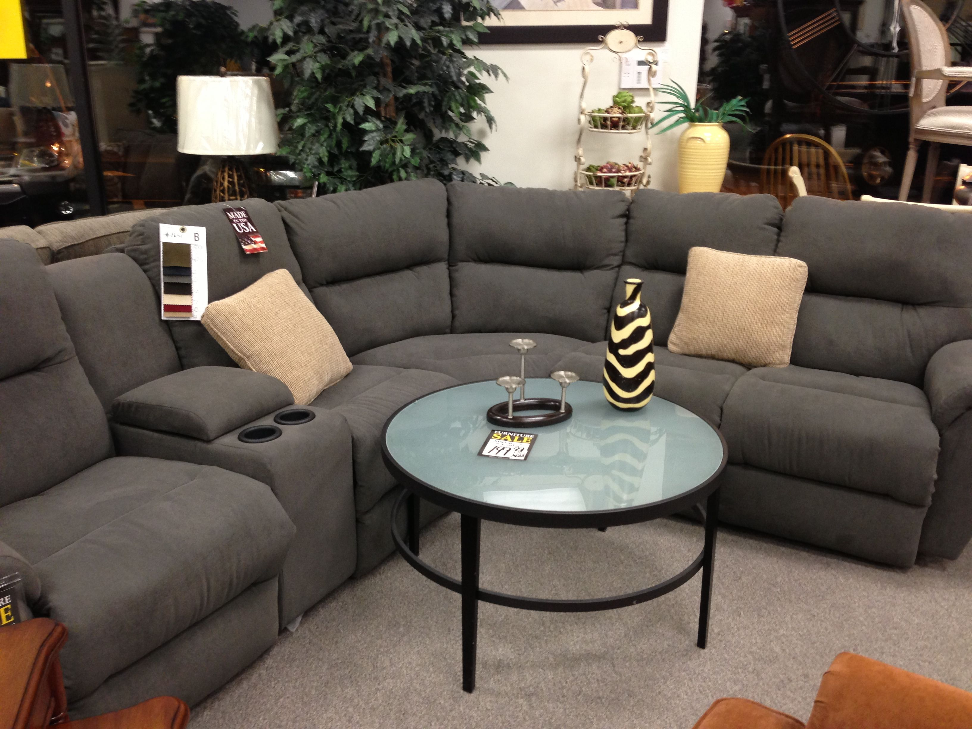 Grey Reclining Sectional From Michael S Sectional Sofas Living