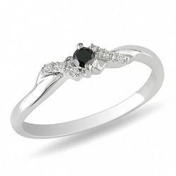 manege a bijoux bague diamant noir