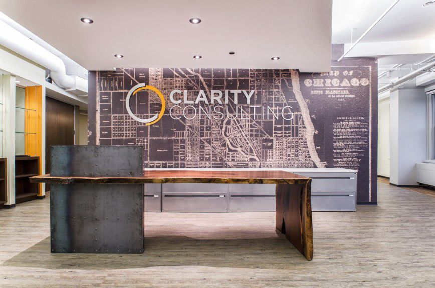 Office Reception Desk Custom Walnut With Live Edges And