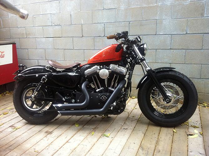 Xl1200x Forty Eight Cafe Racer Bikes Harley Bobber Harley Davidson Sportster