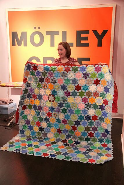 My Travel Quilt Story by Jessica at Life Under Quilts. English paper pieced diamonds.