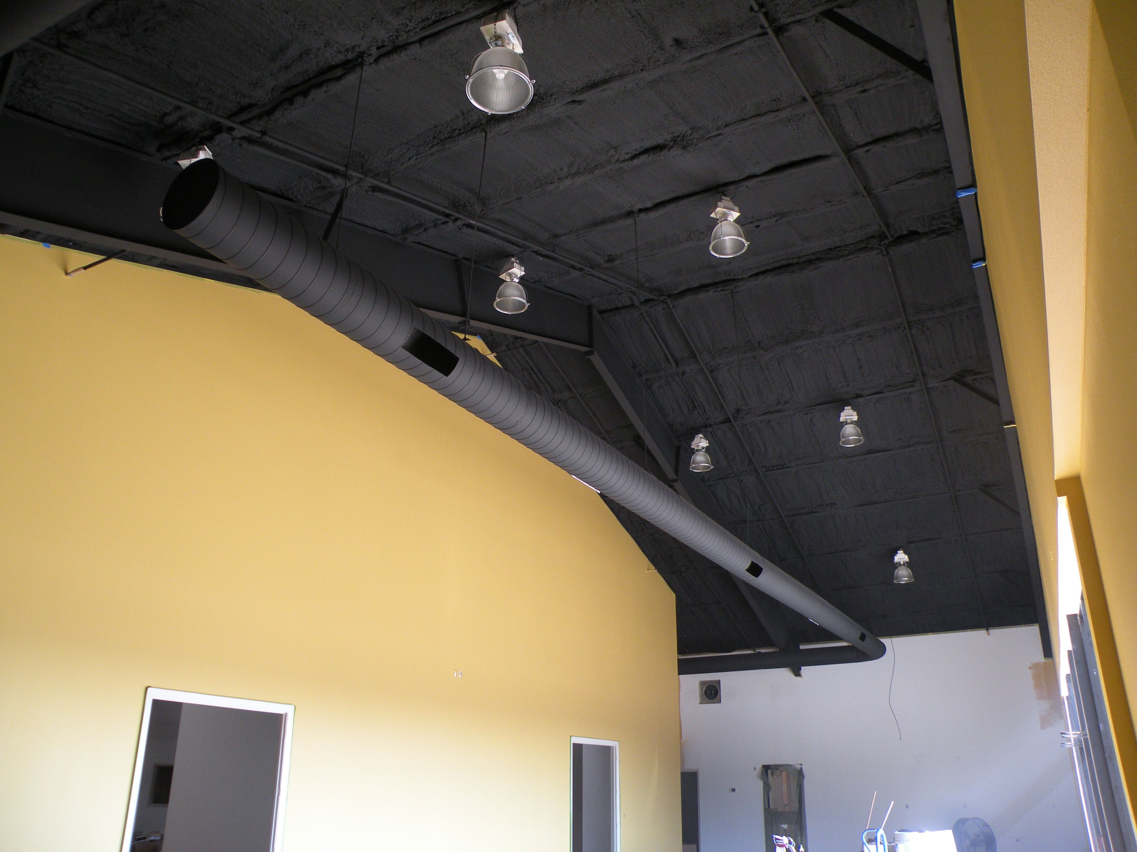 Image Result For Spray Foam Colors Spray Insulation Spray Foam Black Ceiling