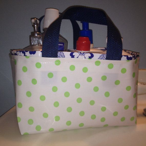 Shower Caddy/ Fabric Bin/ Waterproof Bin/ by ShopMayfieldLane ...