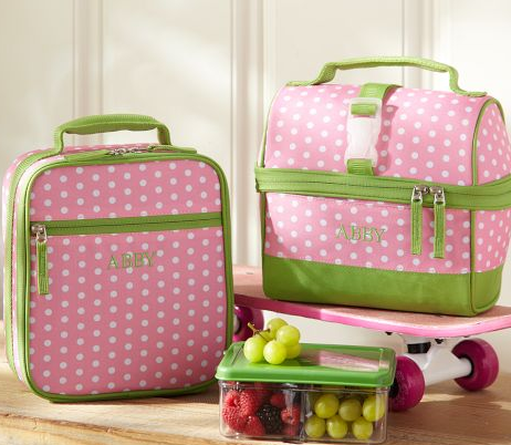Pottery Barn Kids lunch bags that you can get monogrammed. via 25 ...