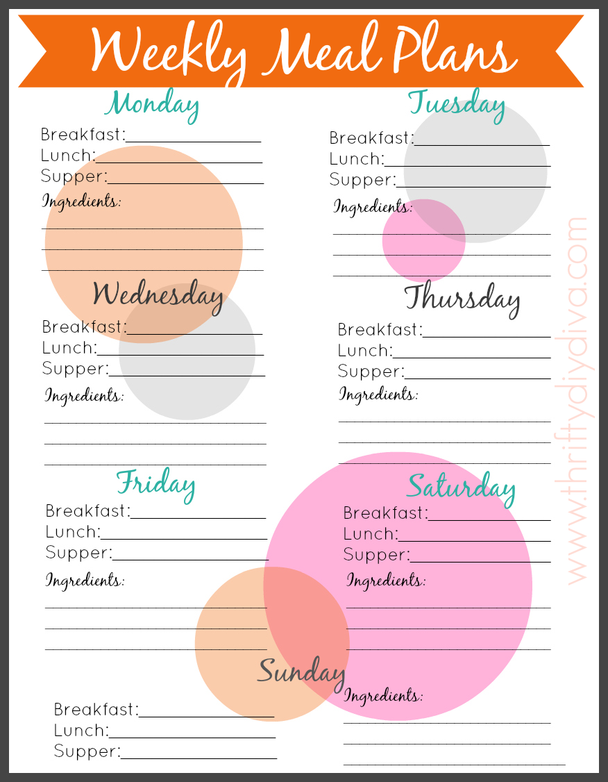 How To Start A Meal Plan + FREE Weekly Menu Planner Printable ...
