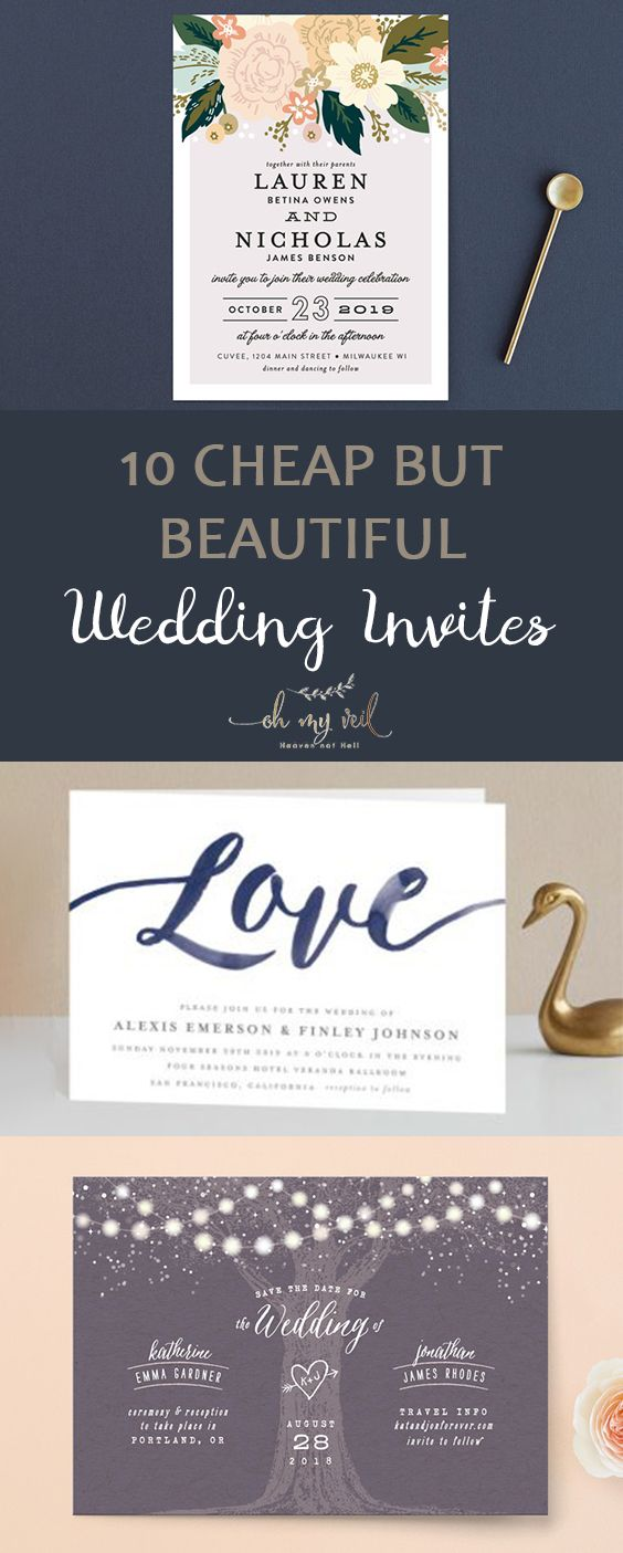 10 Cheap but Beautiful Wedding Invites| Wedding Invites, Inexpensive ...