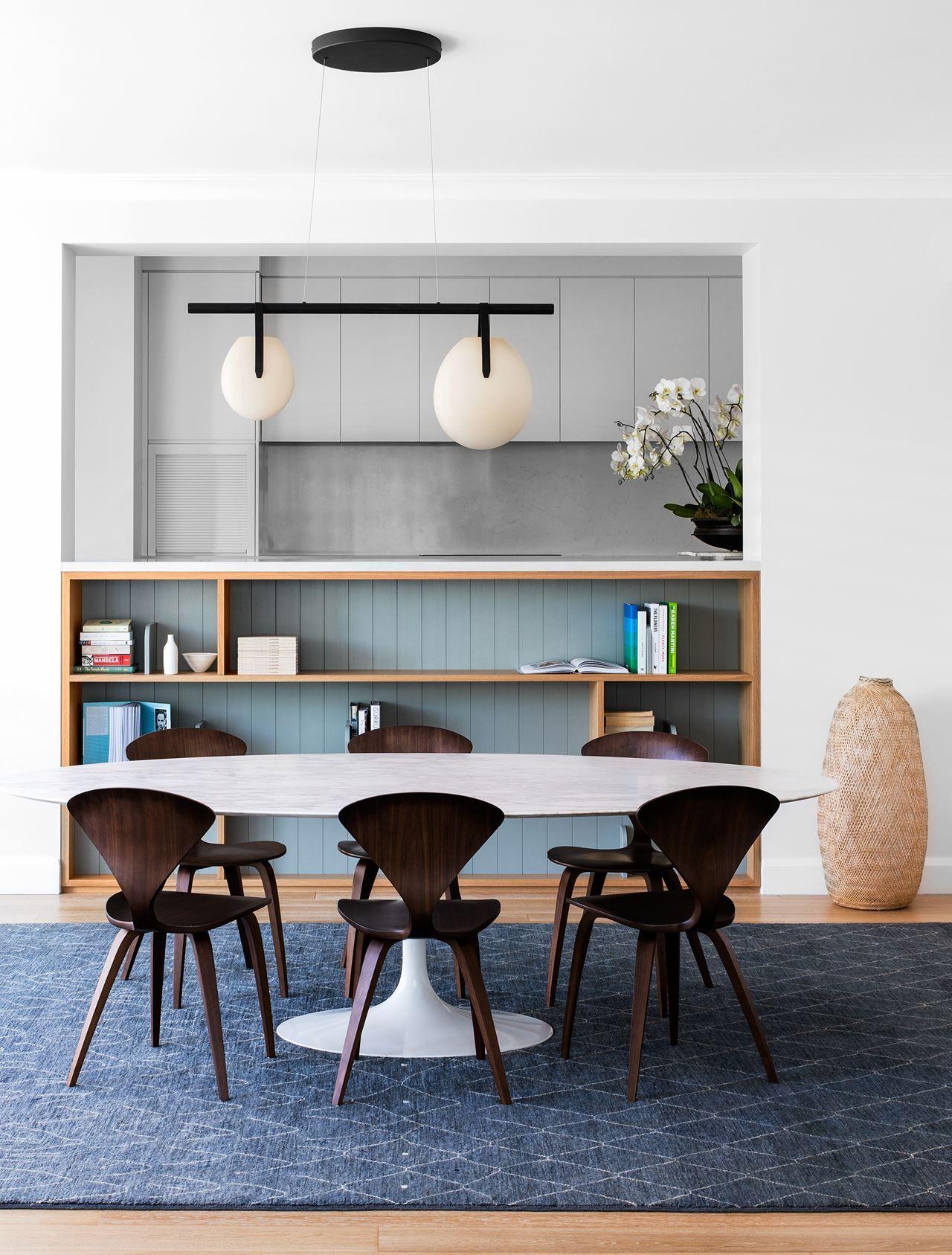 cherner furniture. Dining Area Has An Eero Saarinen \u0027Ellipse\u0027 Table And Cherner Chairs From [De Furniture