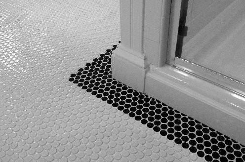 White & Black Penny Round Mosaic Tiles #pennyrounds ...