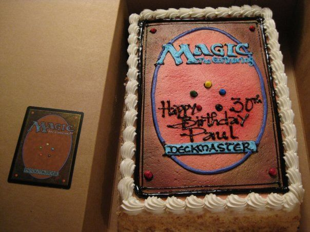 Paul S 30th Birthday Magic The Gathering Cake Possible Grooms Cake