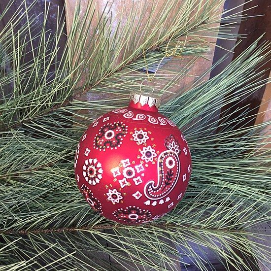 Paisley Ball Ornament This paisley ornament from Sullivans comes in