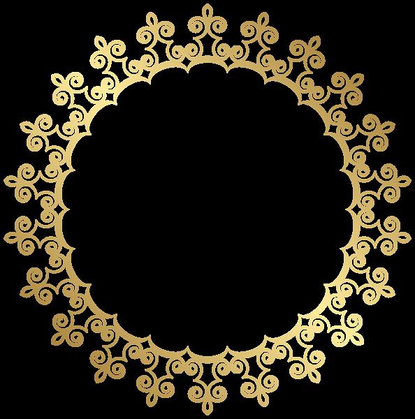 Round Gold Border Frame Transparent Clip Art Image French Pattern Free Clip Art Clip Art
