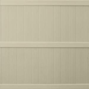 Keter Springfield 6 Ft X 6 Ft Tan Resin Privacy Fence Panel Model 202980 Each