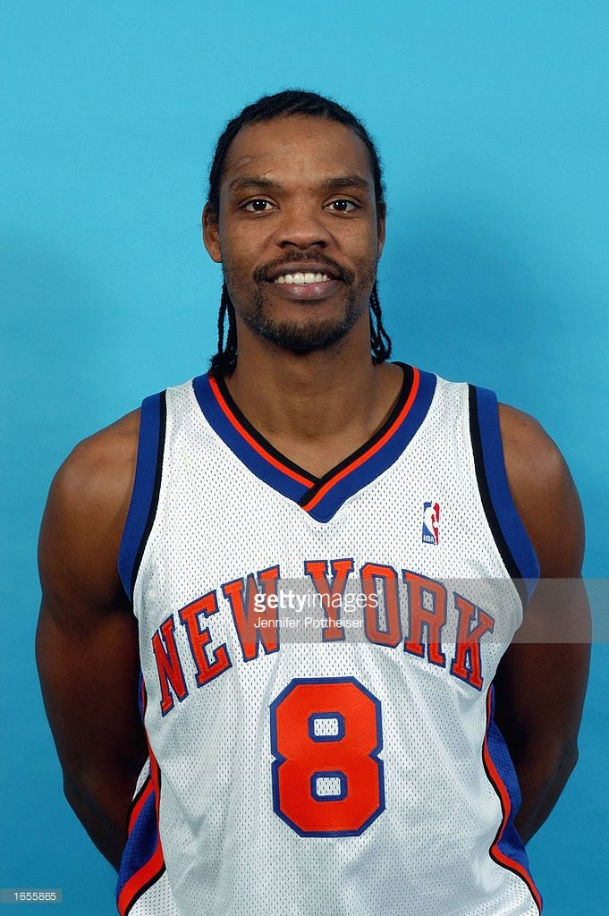 competitive price c0868 297c1 Latrell Sprewell of the New York Knicks poses during a ...