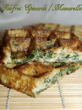 Gaufres aux épinards et mozzarella - Dans vos assiettes