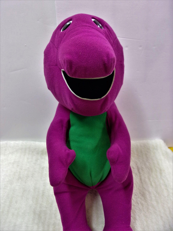 SALE Talking Barney Toy Stuffed Animal Purple Dinosaur