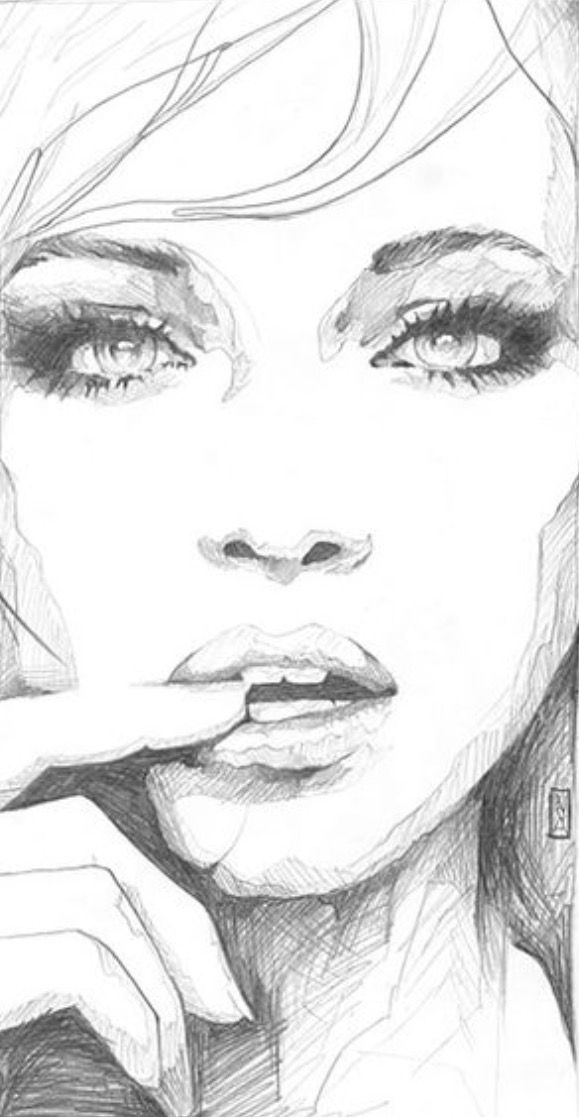 sketches of sexy faces