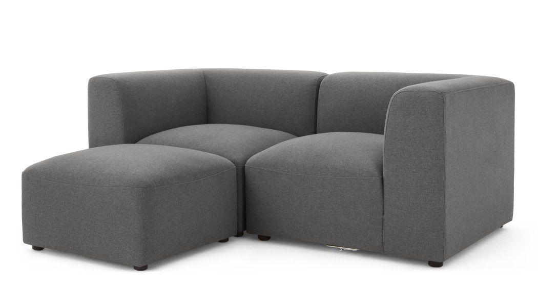 Made Marl Grey Sofa 2 Seater Sofa Sofa Grey