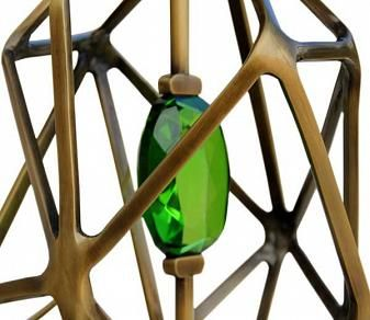 Crystal-Structured Lighting - The Gem Table Lamp Contains a Bejeweled Core (GALLERY)