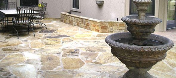 Natural Stone Patio By Archadeck Of Austin