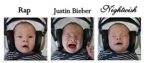 Haha isn't this the truth! This baby has a good taste in music.