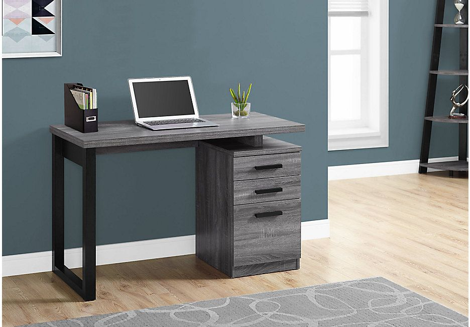Blessington Gray Desk Grey Desk Small Grey Desk Computer Desk Grey