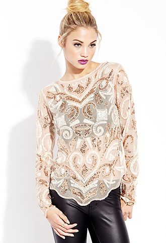 4485ccd2c8eaf0 Glammed Out Sequin Top