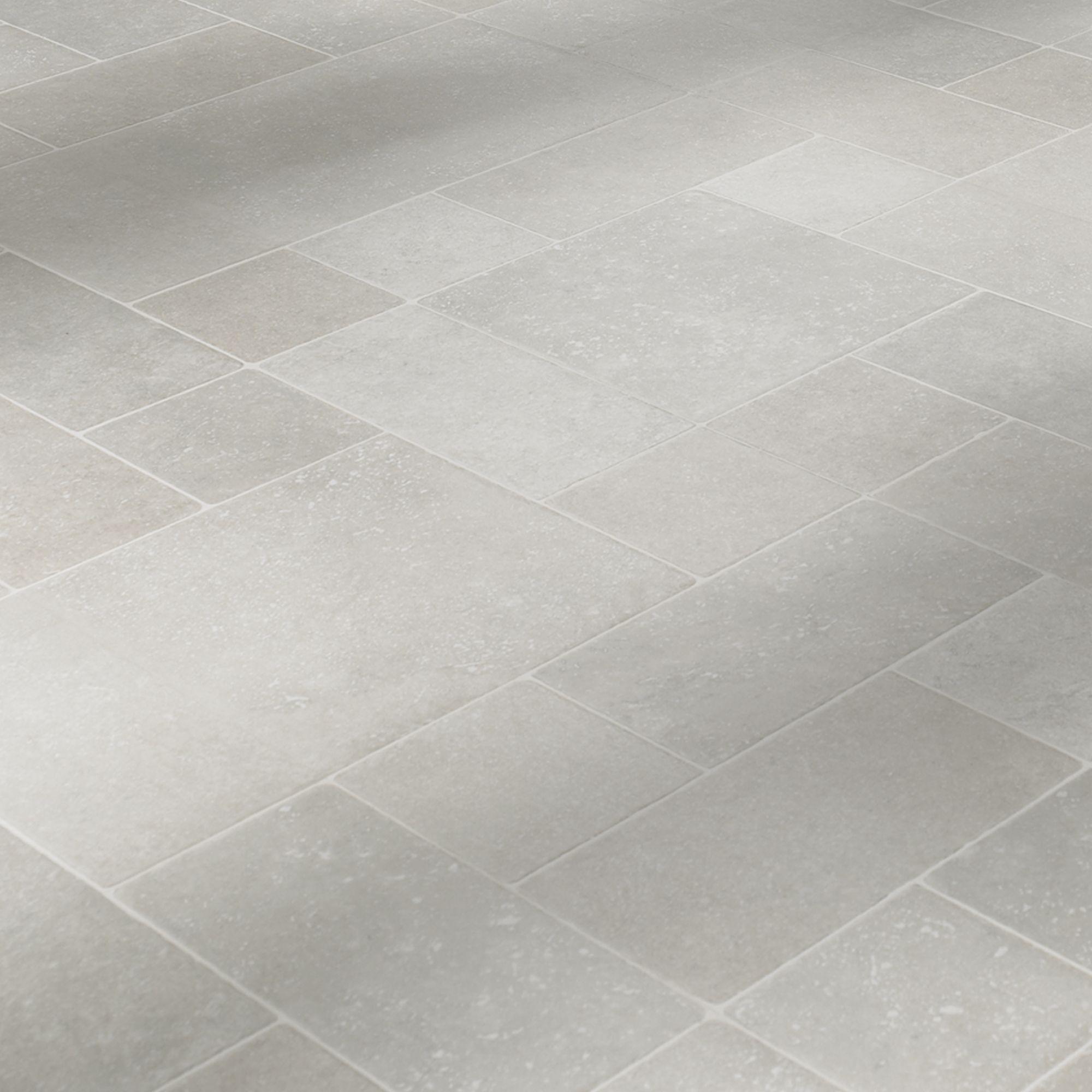 Colours Barbarita Grey Limestone effect Laminate flooring, 9.9m² ...
