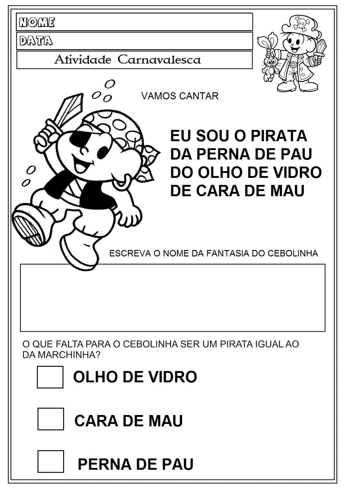 60 Atividades De Carnaval Para Imprimir Educacao Infantil Em
