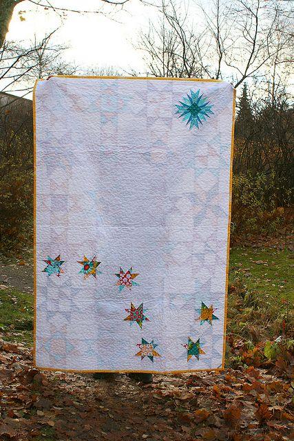 Star Bright Quilt back by Pikku-Kettu, via Flickr