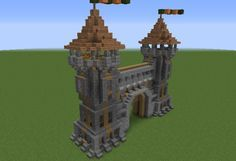 Medieval Gatehouse 2   GrabCraft   Your Number One Source For MineCraft  Buildings, Blueprints, Tips, Ideas, Floorplans!