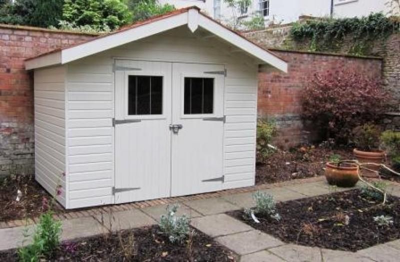 Stylish Superior Shed This High Class Superior Shed, With Front Overhang,  Works Very Well In This Wiltshire Courtyard Garden, And Simply Stands Out  In ...