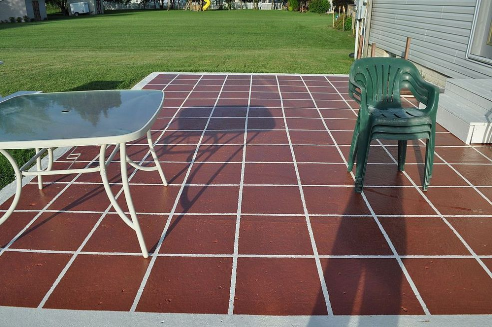 painted patio patio tiles