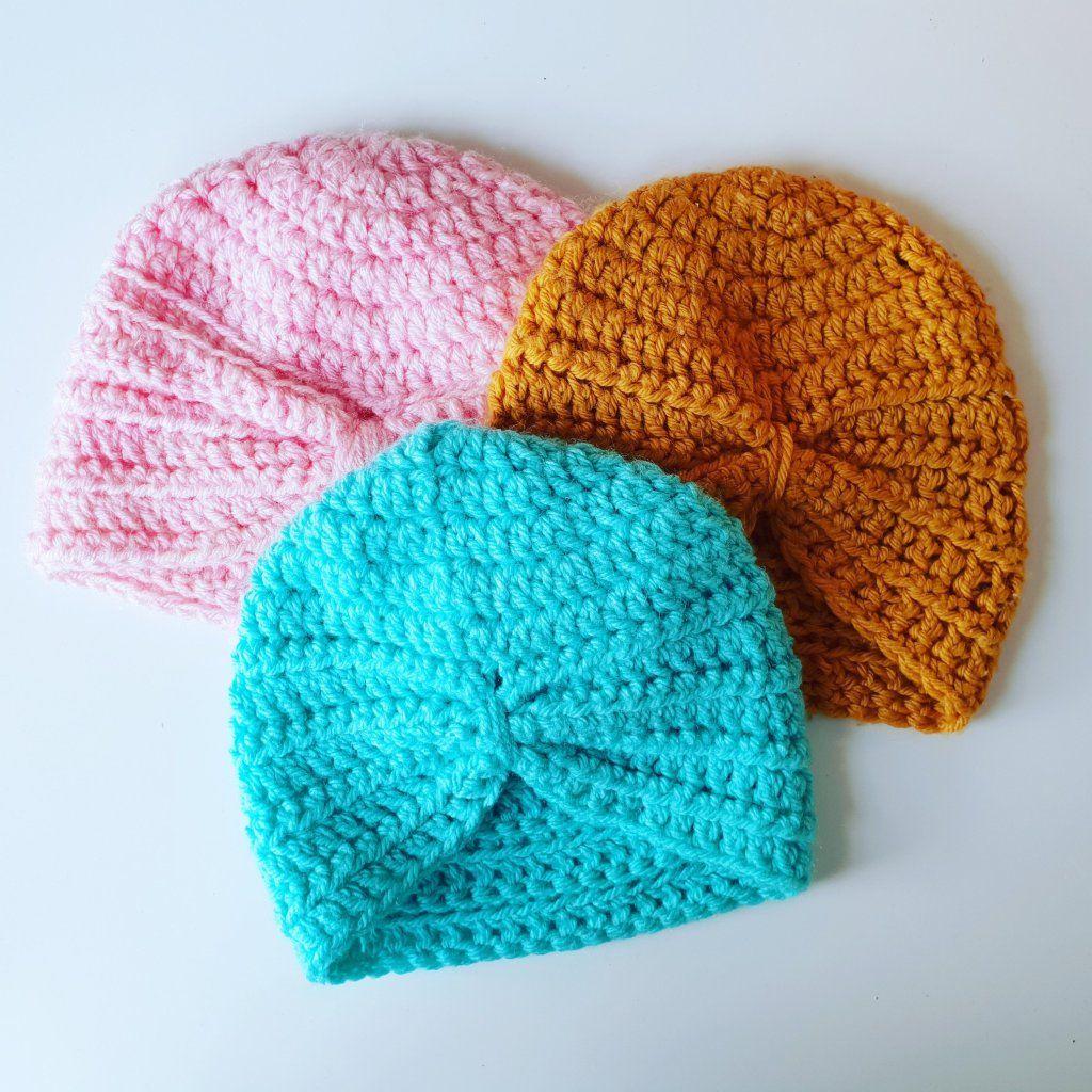 FREE PATTERN // Baby Turban Size 0 - 6 months | Crochet ...