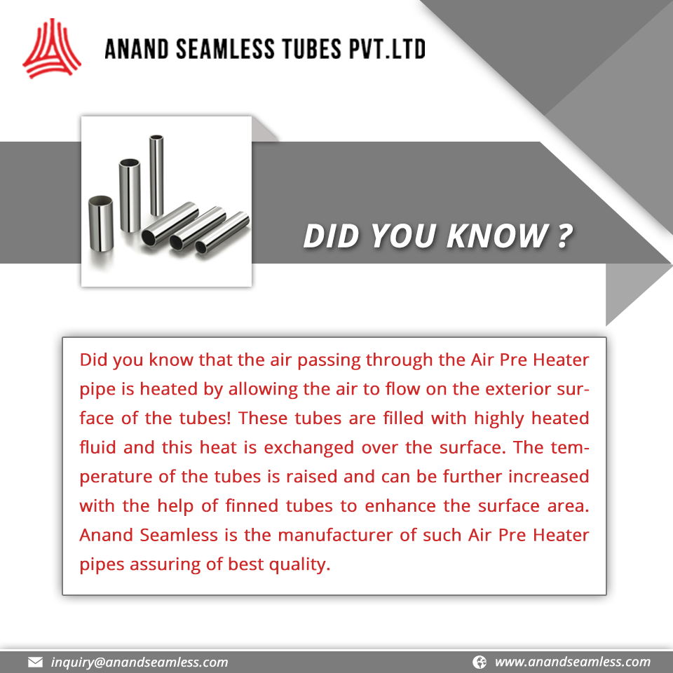 DID YOU KNOW? colddrawnseamlesstubes SeamlessTubes