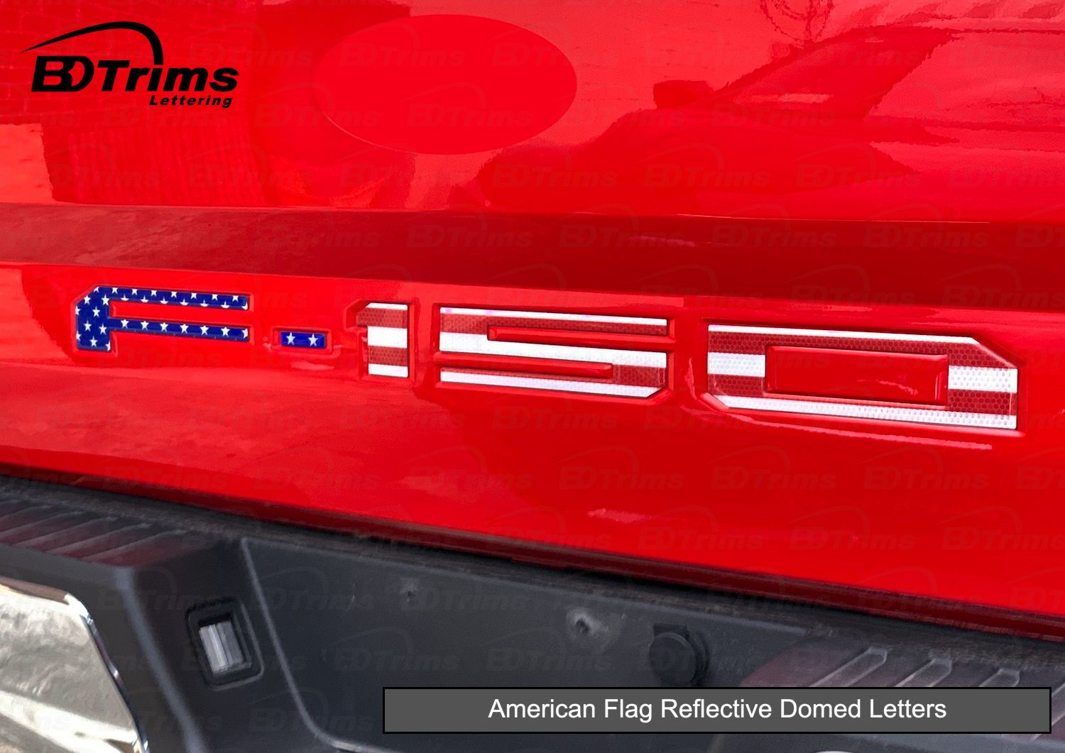 BDTrims Domed Letters Inserts fits TRD Skid Plate for 4Runner 2015-2019 Models Red Carbon
