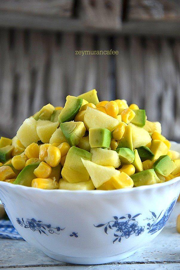 ananas avakado mısır salatası