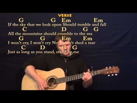 Stand By Me (Ben E King) Easy Guitar Strum Cover Lesson with Lyrics ...